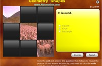 Math Geometry Games, Quizzes and Worksheets for kids